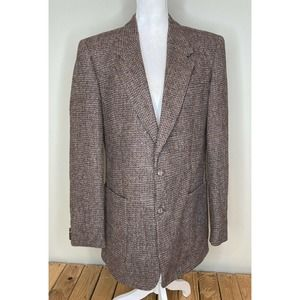 HARRIS TWEED Men's Wool Button Up Jacket Blazer L